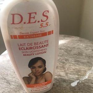 D.e.s lightning body lotion